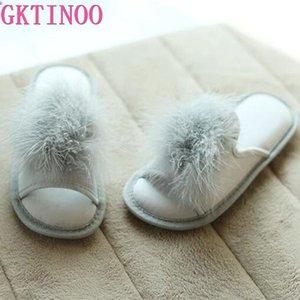 GKTINOO bonito Mulheres Chinelos Interiores Mulheres Casa sapatos de verão das senhoras Slides
