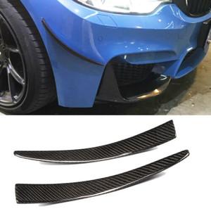Labios de fibra de carbono del tope delantero del divisor lateral aletas para BMW M3 M4 F80 F82 14-17