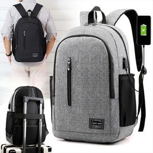 Male Backpack Laptop Notebook Rucksack Travel Backpack Large Capacity Business Schoolbags USB Charge College Bags