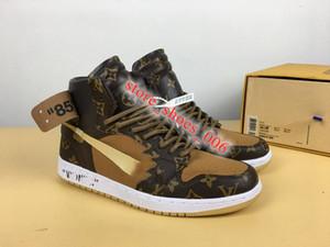 NIKE Air Jordan 1 AJ1 1 High OG jeu réel Toe Banned Ombre Bred NRG UNC Blanc Hommes 1S Brisé Tableau d'affichage Médaille Chaussures Baskets Sneakers Off Cha