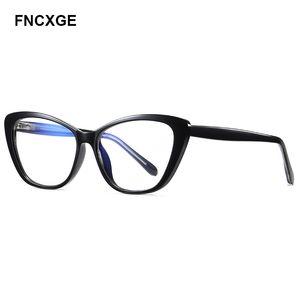 2020 Sonnenbrillen für Damen Blue light Blocking Frauen Sun-Glas-Cat Eye UV400 Eyewear Temple optischen Computer-Gaming-Rahmen