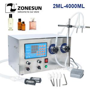 ZONESUN doble cabezal magnético jugo de perfume de la bomba de aceite líquido Bebidas esencial de botella que hace la máquina de llenado de agua de la máquina