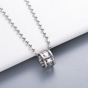 حار بيع قلادة عرض الإطار عالية الجودة الفضة مطلي جولة قلادة الأزياء قلادة رسالة للجنسين مجوهرات العرض