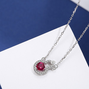 S925 sterling wholesale silver 2020 new gourd love zircon necklace day-to-day small jewelry 925 bracelet stall Hot Sale