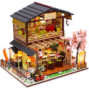CUTEBEE Niños Juguetes Casa de muñecas con muebles de madera Ensamble miniatura muñeca diy de la casa de muñecas rompecabezas juguetes para niños M2011 CX200815
