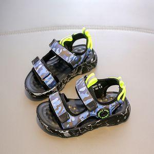 소프트 Babaya 어린 이용 샌들 빅 보이 비치 신발 바닥 2020 여름 새로운 학생 신발 아동 샌들 보이