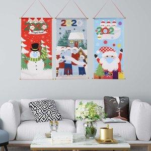 2020 Weihnachts Quarantäne-Familie der Maske Flagge Schneemann Weihnachtsmann, Fenster, Tür Esstisch Wand Dossal Flagge Mode Weihnachtsschmuck F92501