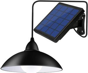 Модернизированный Солнечный свет подвеска с дистанционным управлением, солнечной энергии Сарай огни Outdoor / Indoor, Auto On / Off висячие Shed лампы для Barn