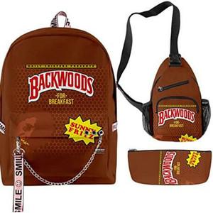 Backwoods cigare Sac à dos Backwood Imprimer Sac d'école Sac épaule portable Sac Voyage pour les garçons hommes Backwoods New Zealand concepteur