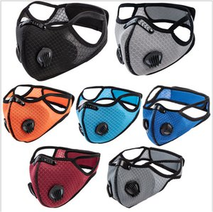2020 tessuto Maschera Moda Uomo Donne Cinque Livelli melt-blown sfiato Valore esterna Bocca Sport copertura antipolvere maschere E81402