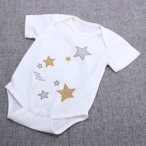 Spring Summer Cotton Bodysuit For Air-conditioned Room Baby Infant Toddlers Short Sleeve Jumbsuit Boys Girls Boutique Outfits