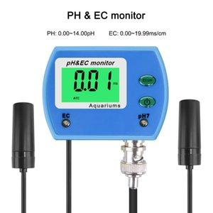 Professionelle 2 in 1 Ph Meter Ec Meter für Aquarium-Multiparameter-Wasserqualitätsmonitor Online-Ph / Ec-Monitor Acidometer T8190619