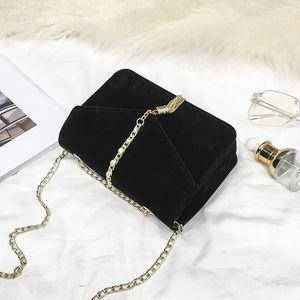 Free2020 Woman Tassels Square Velvet Pendeloque Cut Single Shoulder bag Chain Package Messenger Small