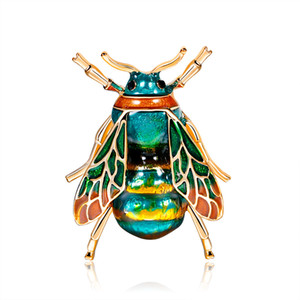Lovely Insect Bee Shape Brooch Black Yellow Enamel Brooches For Children Women Lapel Stick Pins Tie Clips Coat Jewelry
