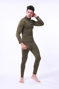 Biancheria intima termica calda addensare biancheria intima da uomo termica set lunghi OutsideThermal magliette pantaloni Mens più velluto