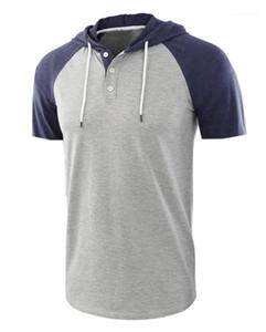 O Neck Splice Couleur Tops Designer Homme T-shirts d'été à manches courtes hommes Hauts mode de style européen Hommes