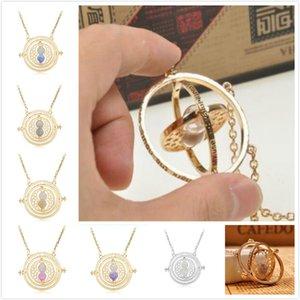 Гарри Поттер время Тёрнер ожерелье Песочные часы Vintage Подвеска Гермиона Грейнджер золото Серебряное ожерелье для женщин Lady девушки Оптовая DHL бесплатно