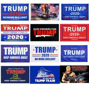 free shipping factory price 14 styles 3x5 trump flag 2020 election trump flag banner 90x150CM