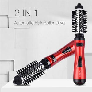 Профессиональная горячего воздух бигуди Co Автоматической Вращающийся выпрямление Curling Brush Roller Сушилка для волос Styling