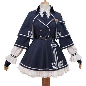 Anime Oyun Arknights Mousse Hizmetçi Elbise Lolita Cosplay Kostüm Kedi Kulaklar Kedi Kuyruk Peruk