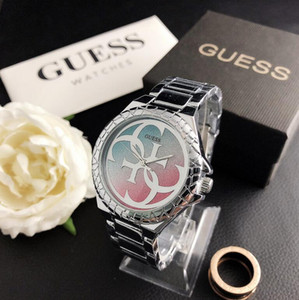 Adivinha senhoras Luxo Atacado strass ouro diamante relógio de prata de aço inoxidável Relógio de luxo mulheres relógios de quartzo assistir mulheres pulseira de gg