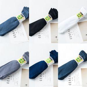 calze bianche pediluvio pediluvio fibra di bambù di cotone a righe di cotone tubo diritto degli uomini calzini mercerizzato Mercerized strisce calzini ZBbV3