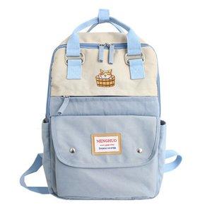2019 New Neko Atsume Lovely Cat Women Backpack Ladies Travel Bag Fashion Japanese Style Backpack Female Mochila Bagpack PackX0923