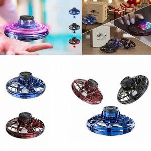 FlyNova Vuelo Gyro llevó la yema del dedo de Vuelo Gyro mano portátil operado 360 ° Rotación de Spinning Shinning inducción Juguetes regalo de Navidad GGA2974 twJW #