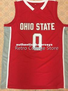 Ohio State Buckeyes # 0 D'Angelo Russel Retro Top College Basketball Jersey ricamati nome e numero qualsiasi XXS-6XL formato XS-6XL gilet Jersey