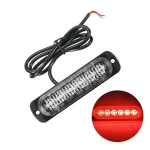 전구 램프 경고 1 배 레드 6 LED 슬림 12V 24V 24LED 스트로브 빛 자동차 - 모터 차량 트럭 LED 사이드 마커 램프 점멸