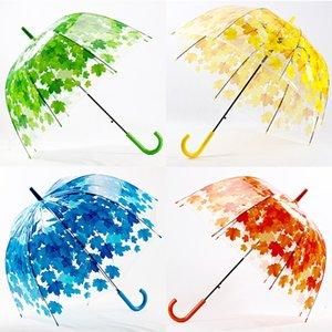 Yuding Полуавтомат Зонт Дошкольный младенца Женщина Long-ручка Прозрачный ПВХ Umbrella Клетка Arch Piekna Парасолька