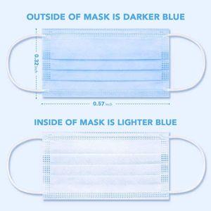 3 3 Face nanofiber máscara de máscara para e proibésias camadas elásticas forro descartáveis com filtro de proteção NKOE PLY segurança anti-poeira el cara atrm