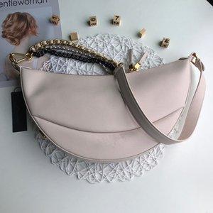 2020 новых женщин высокого класса чувство горячей продажи моды полумесяц сумка цепи рюкзак универсальный случайный миноритарного холст одного плеча оседлать WAI