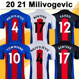 20 21 MILIVOJEVIC قميص رجالي كريستال لكرة القدم الفانيلة الجديدة TOWNSEND زها ساخو BENTEKE BATSHUAYI الرئيسية الأحمر الأزرق لكرة القدم الزي الرسمي لقصر قصيرة