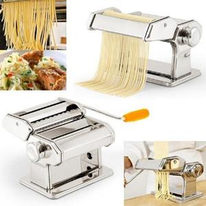 Aço inoxidável 1pcs manual Noodle Criador Household Pasta faz a máquina para ferramentas Dough Roller Noodles Spaghetti Cortador de massas