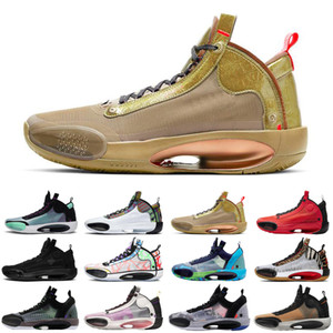 Patrimoine 34 hommes Jumpman chaussures de basket-ball bleu Void Zoo Noah Bayou Black Boys Cat nfrared 23 ASG formateurs hommes chaussures de sport