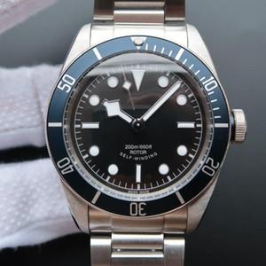Hot Luxury Mens Watch Aço Inoxidável Automatic Black Heritage BAY ROTOR MONTRES Designer de homens mecânicos relógios de pulso K5UP #