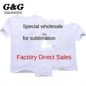 Thermotransferdruck Wärmesublimations leer modal weißen T-Shirt Jungen und Mädchen Werbung T-Shirts