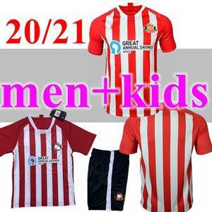 남자 + 키즈 20 21 Sunderland 축구 유니폼 2021 2020 Camisetas Power Watmore McNulty McGeady Grigg Leadbitter 축구 셔츠 탑 태국