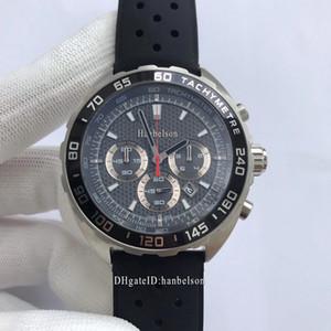Spor İzle Chronograph VK Kuvars Hareketi Paslanmaz Çelik erkek İzle Saat Montre De Luxe İş Kol Saati Relojes De Lujo Para Hombre