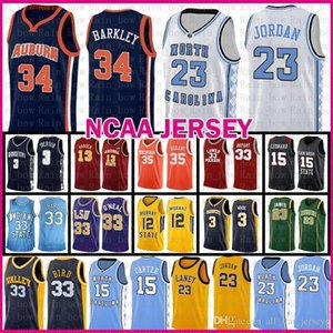 Michael JD 23 MENS Auburn Charles Barkley 34 Baloncesto Jersey Valley Escuela del estado de Indiana Universidad Larry Bird 33 Murray Ja 12 Morant