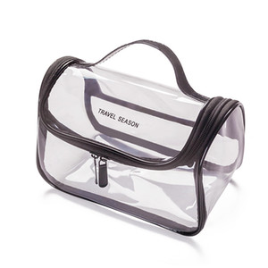 New Fashion Transparent Travel Organizer Clear Makeup Bag Beautician Cosmetic Bag Beauty Case Toiletry Bag Make Up Pouch Wash Bags