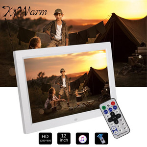 """KIWARM 12 """"HD 1080P LED صورة الصور الرقمية الإطار فيلم لاعب التحكم عن بعد + حامل ديكور المنزل الإطار الإلكترونية"""