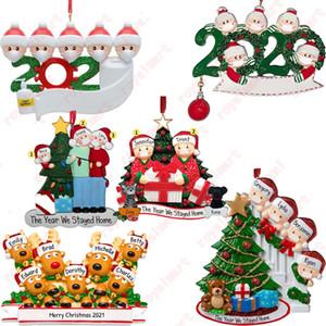 Приветствия рождественские украшения DIY 2020 Карантин Рождество День рождения Pandemic социальное дистанцирование Рождественская елка Подвеска аксессуары