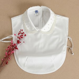 Nouveau faux chemise enfants de style coréen polyvalent perles pull printemps col décoratif tong tong chen shan chen shan shi enfants perlée