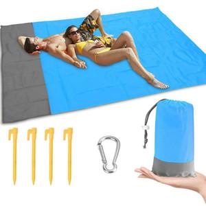 2M * 1,4 M Beach Blanket extérieur étanche Portable Mat pique-nique Camping Ground Mat Matelas Camping Bed Pad DORMIR # g4