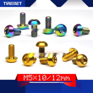 2Xwqv Titanium de freno del freno de aleación de tornillo del disco M5x10 / 12 ciruela aleación Disc cabeza color T25 titanio tornillo ánodo