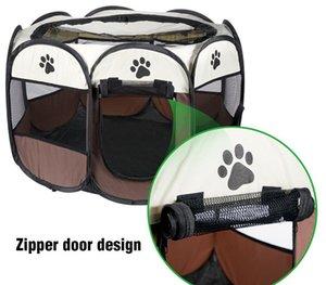 Cat Tenda Casa indipendente Pet Dog Cage esterna della fossa di scolo Nest Park Fence Box Perch Mensola per Puppy Kitten Small Medium cani Pet08