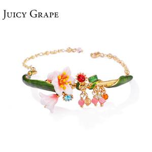 Juicy Grape Enamel Glaze chic bracelet female personality cold wind style bracelet adjustable girls gifts