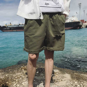 New 2020 Boyfriend Summer Wind Korean Streetwear Style Washed Holes Oversize Casual Shorts Free Shipping